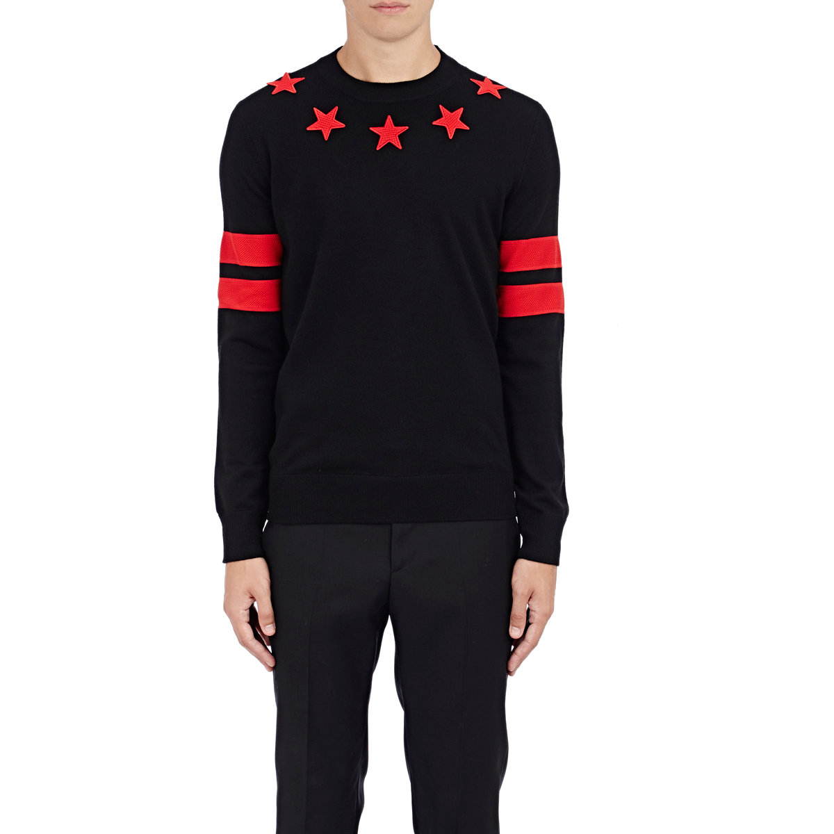 f3c35e9d0f5b Givenchy Stars   Stripes Sweater in Black for Men - Lyst
