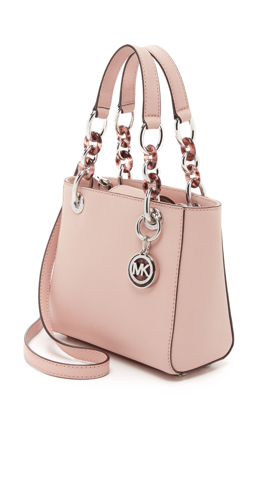 ed8544e262c417 ... closeout michael michael kors cynthia extra small satchel ballet in  pink lyst 504b7 996f0