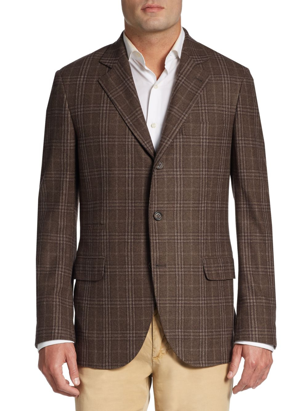 Brunello Cucinelli Wool Cashmere Flannel Sportcoat In