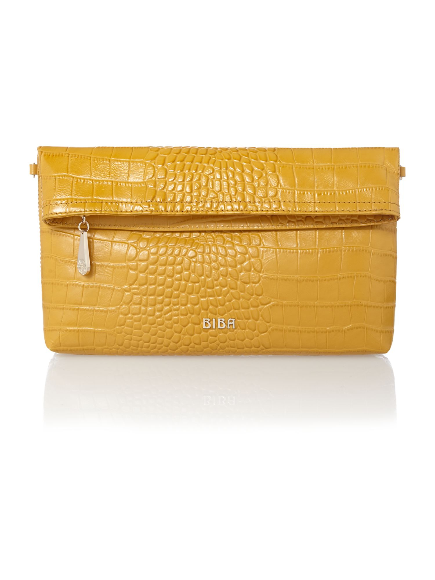 Biba Ferrara Foldover Clutch Bag in Yellow | Lyst