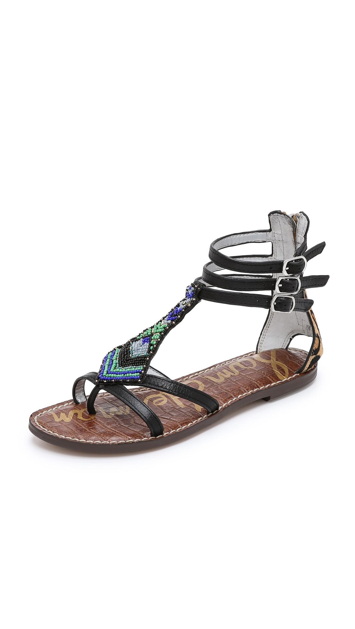 43f7d655b8ff Lyst - Sam Edelman Giselle Beaded Sandals - Black new Nude Leopard