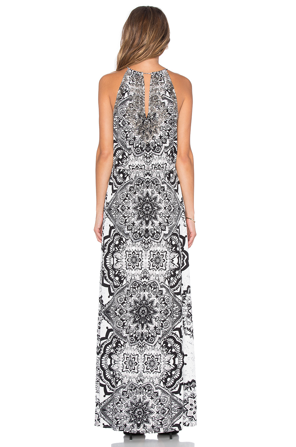 Lyst - Parker Madera Maxi Dress in White 7bdfd519a