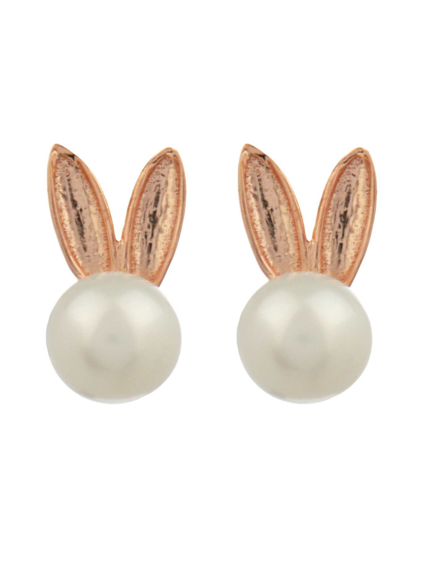 bunny earrings aamaya by priyanka bunny pearl earrings in metallic lyst 8234