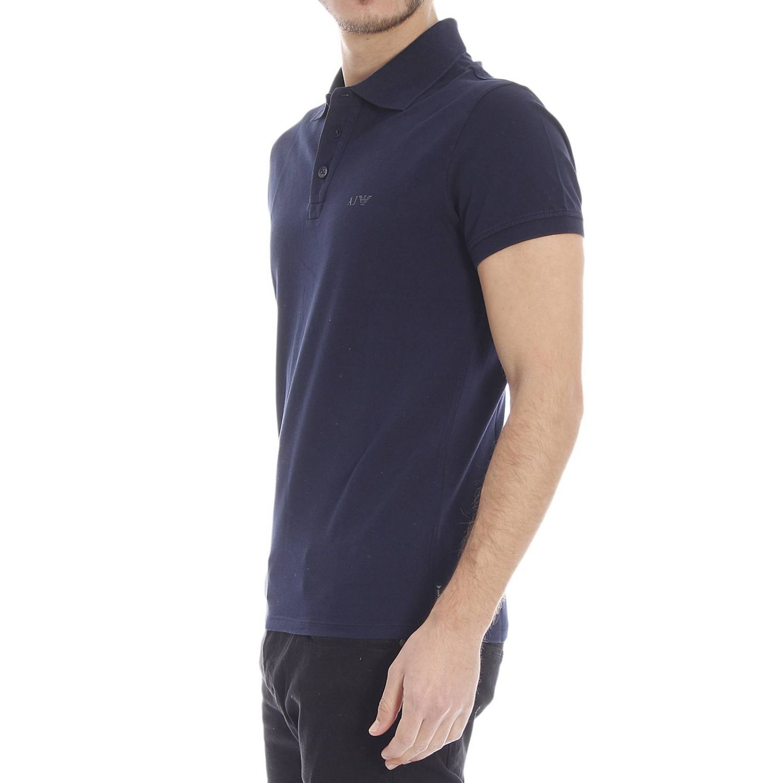 armani jeans t shirt in blue for men lyst. Black Bedroom Furniture Sets. Home Design Ideas