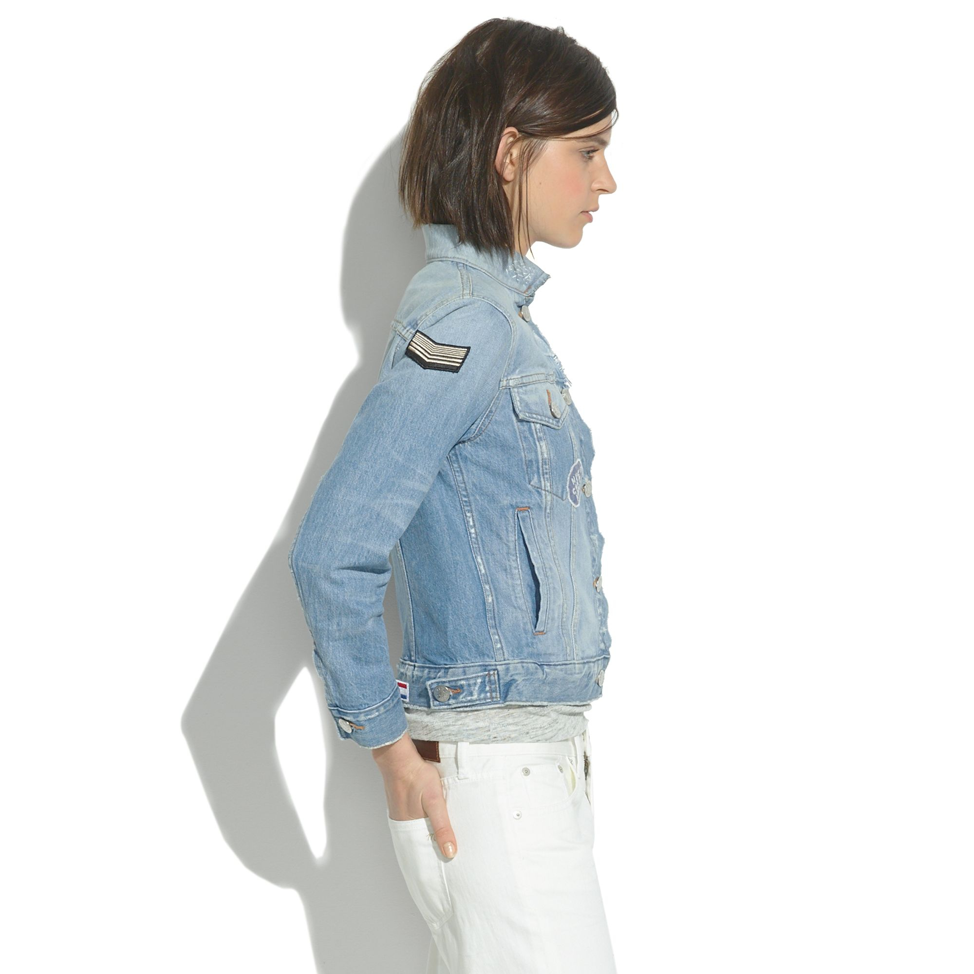 Madewell The Jean Jacket: Patchwork Edition in Blue | Lyst