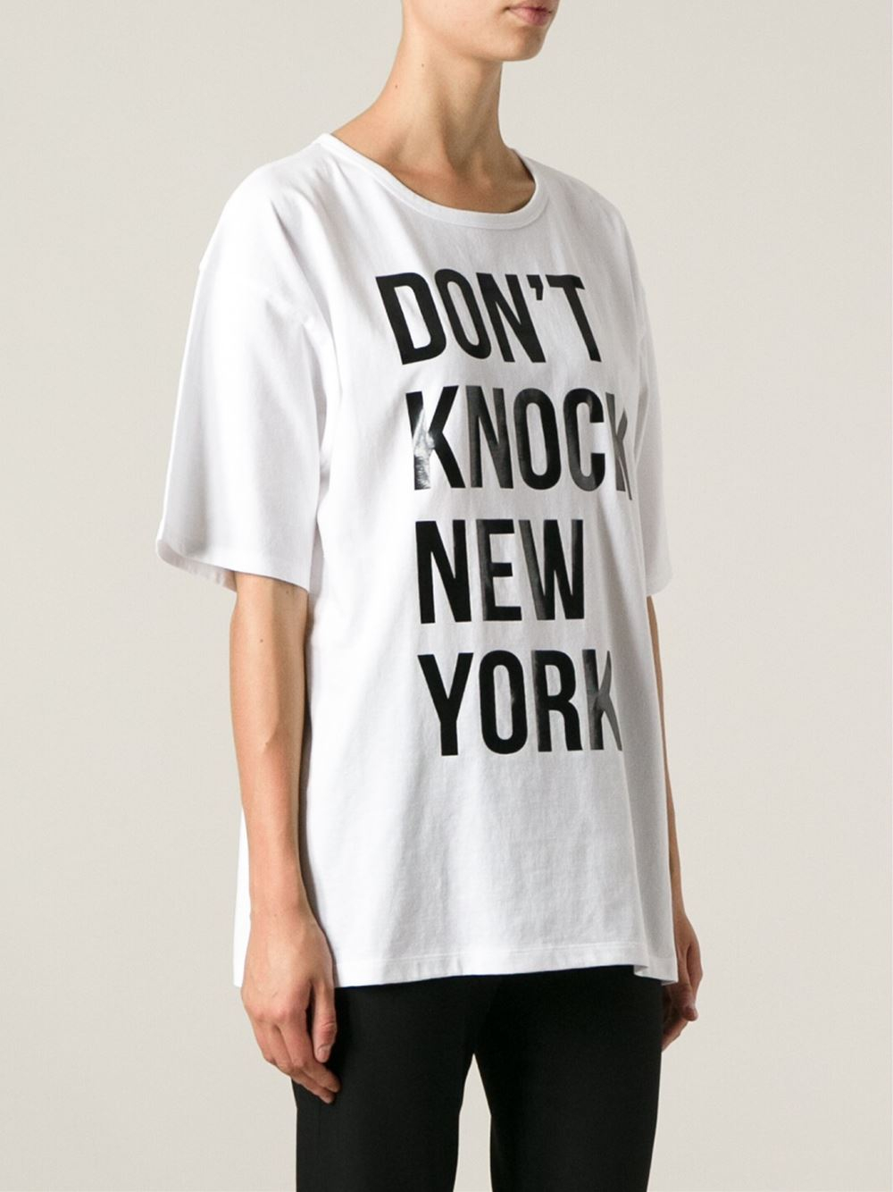 Lyst - DKNY  Don T Knock New York  Oversized T-Shirt in White e3731555419