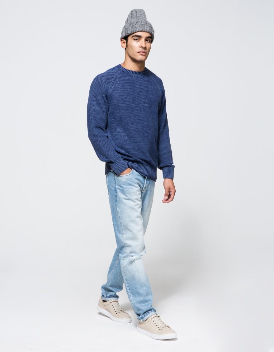 Lyst - Obey Drifter Sweater in Blue for Men