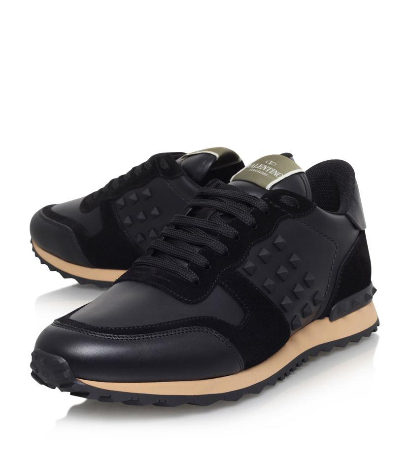 Lyst Valentino Rockstud Runner Sneaker In Black For Men