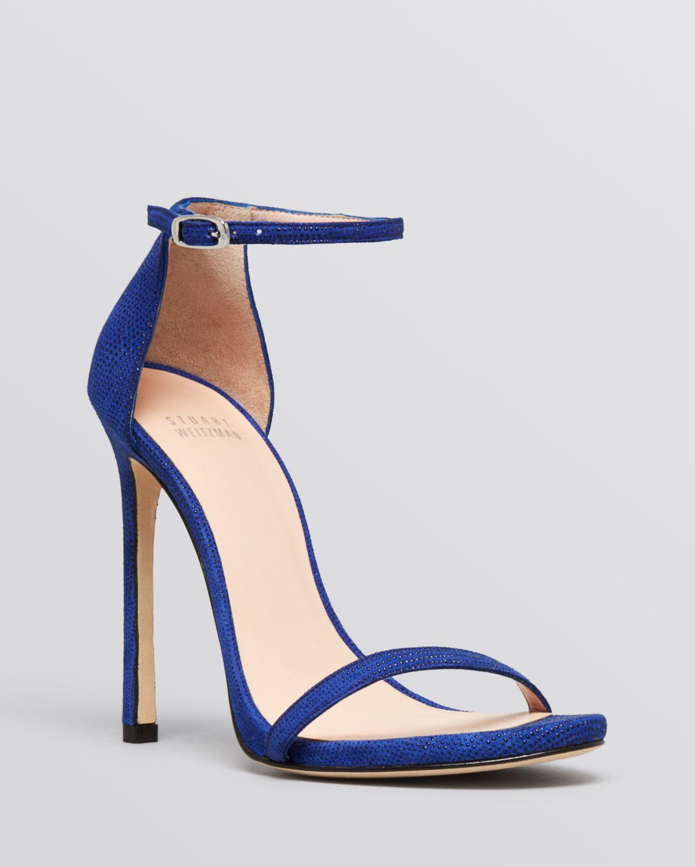 aac767b3988 Lyst - Stuart Weitzman Ankle Strap Sandals - Nudist High Heel ...