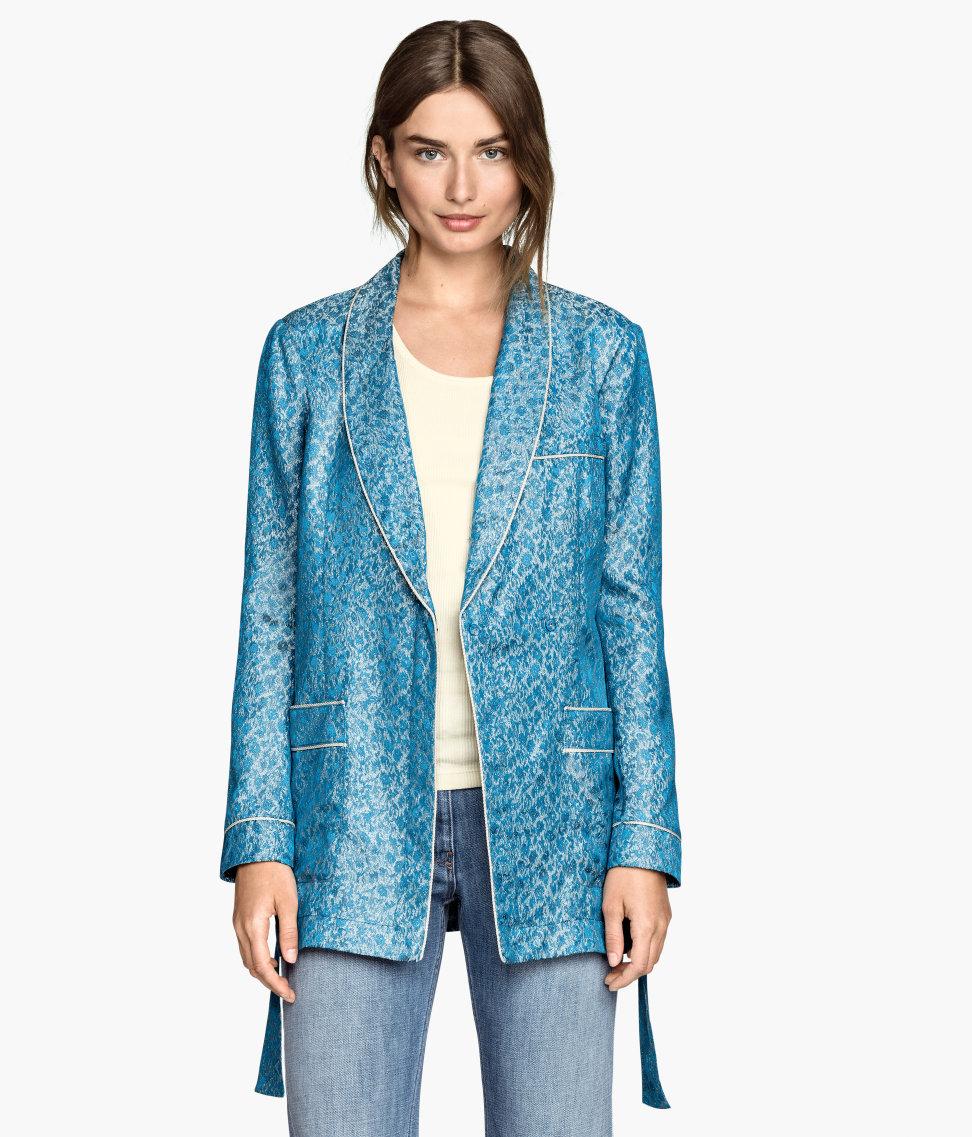 Image result for blue brocade jacket