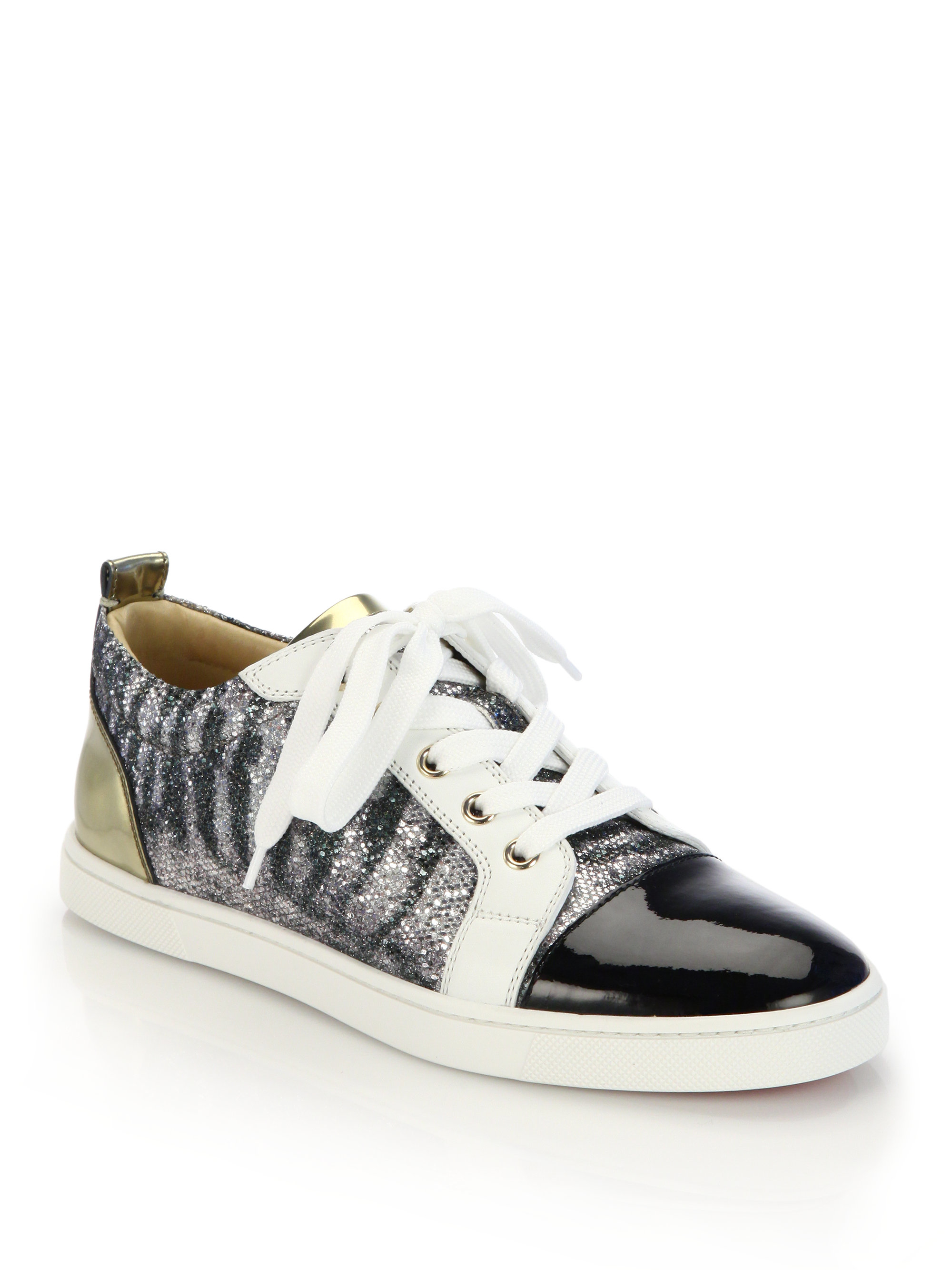 christian louboutin embellished low top sneakers shoes. Black Bedroom Furniture Sets. Home Design Ideas