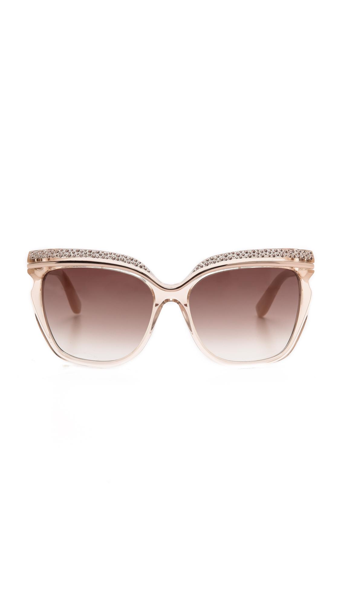 Jimmy Choo Cat Eye Sunglasses Beige Black