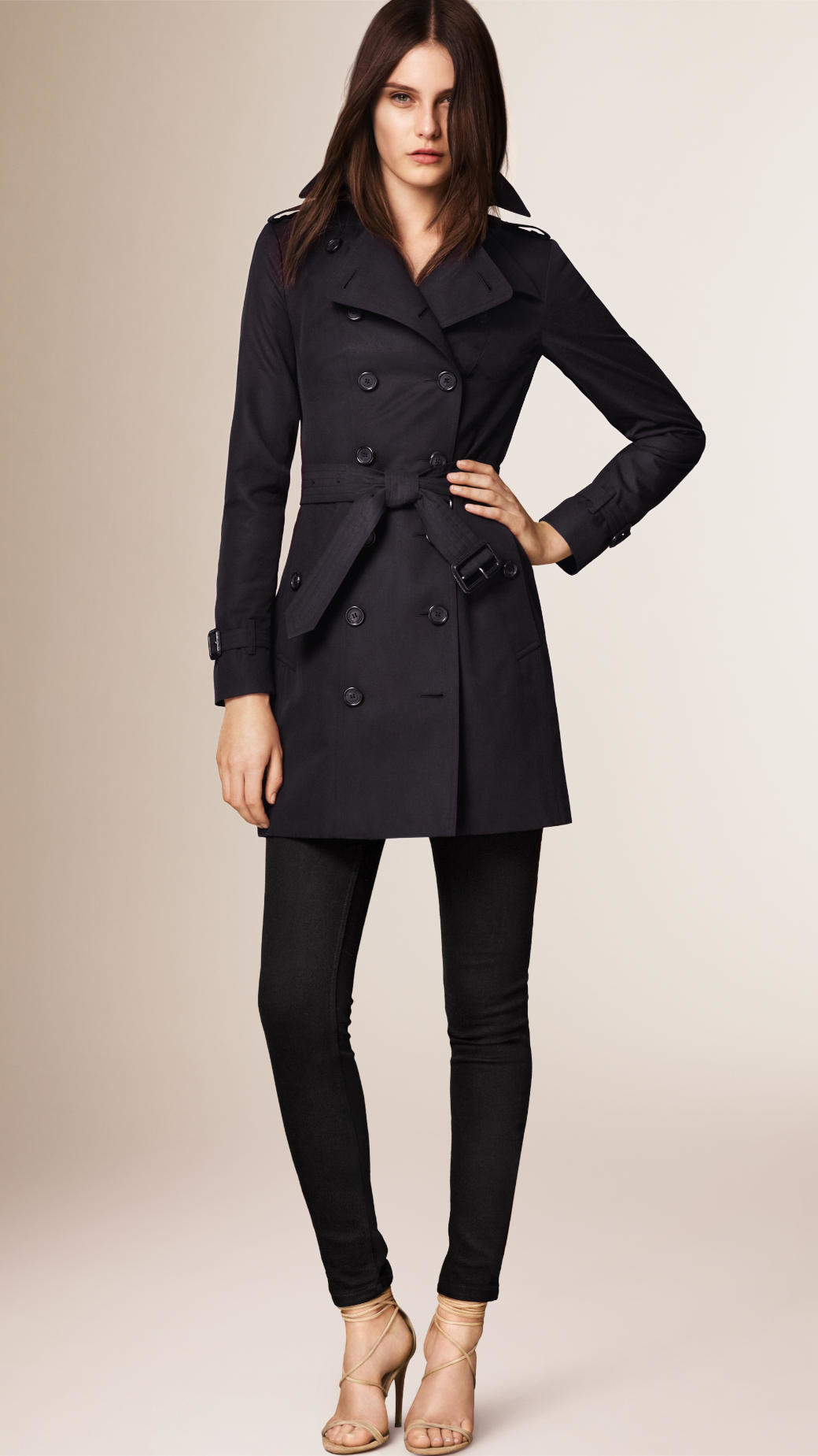 Womens navy blue trench coat