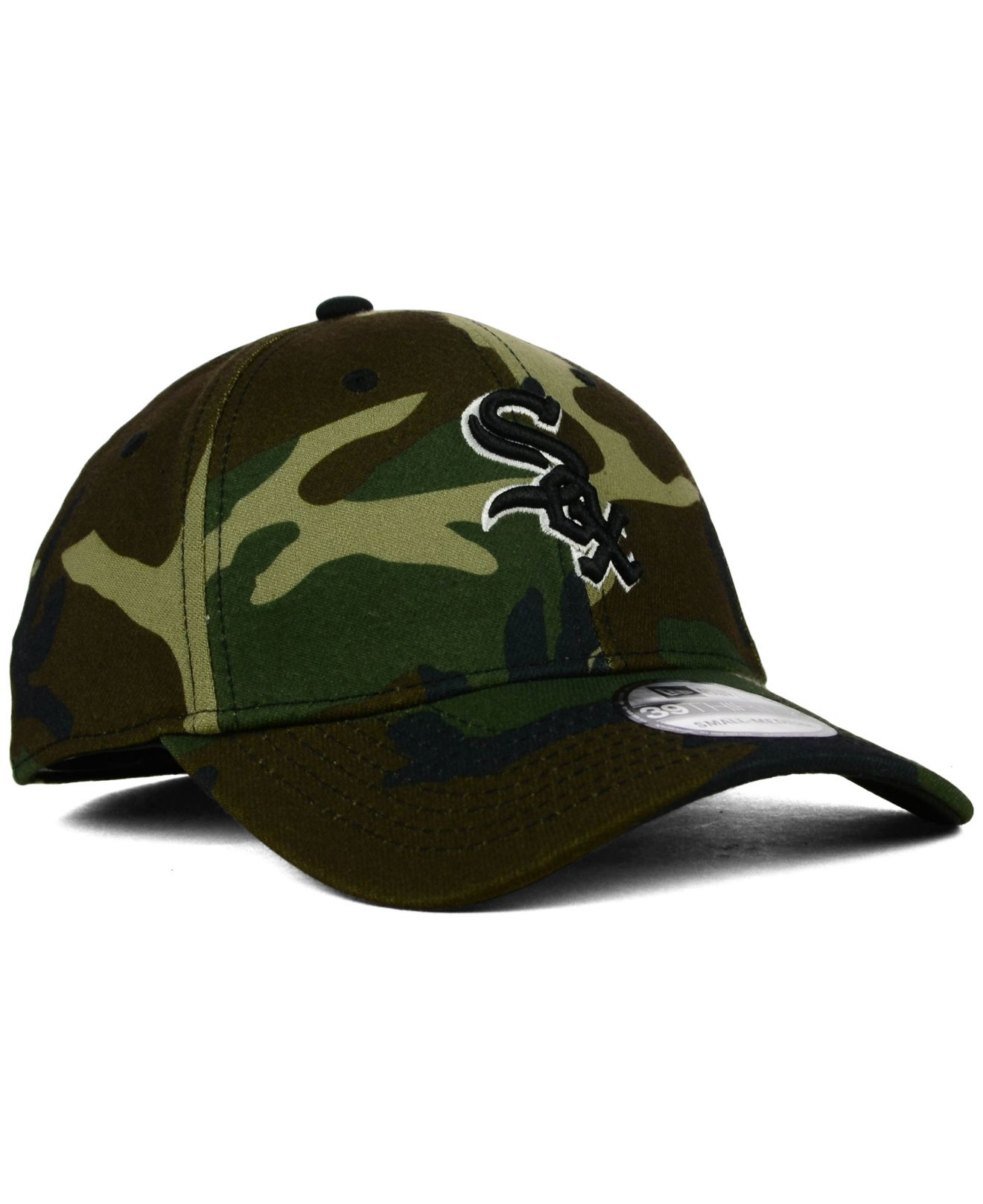 Lyst - KTZ Chicago White Sox Camo Classic 39thirty Cap in Black for Men 41a27993d95