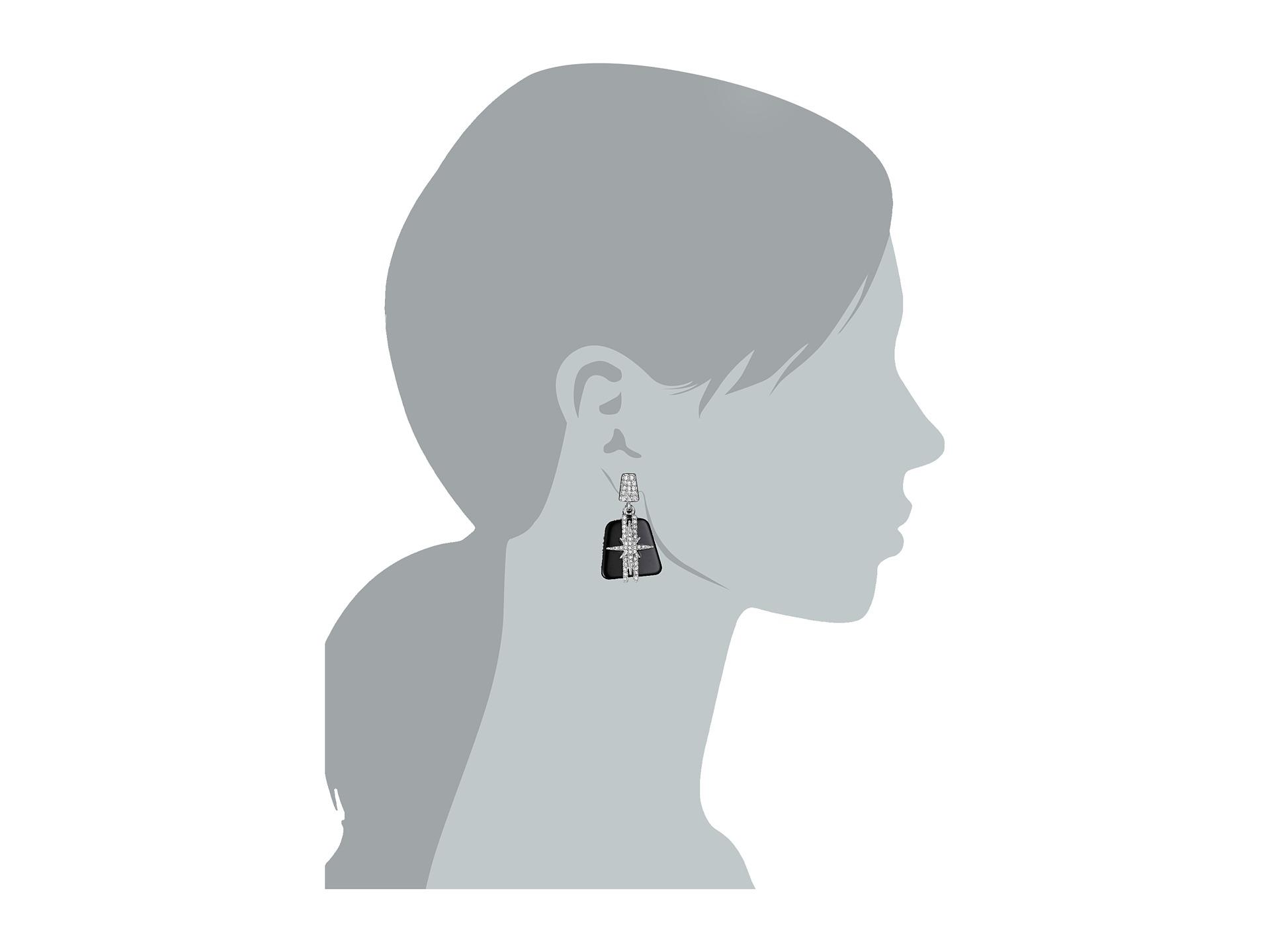 8841ffda671 Lyst - Vince Camuto Resin Drama Post Earrings in Black