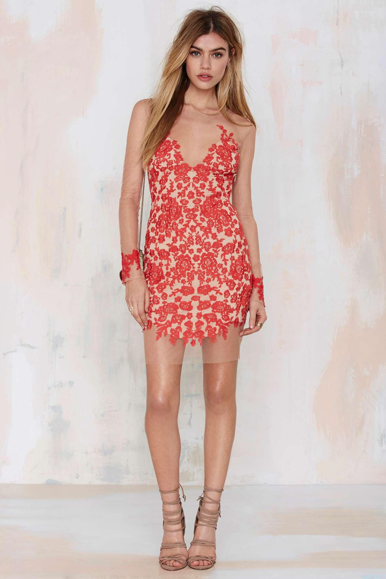 Luau maxi dress red