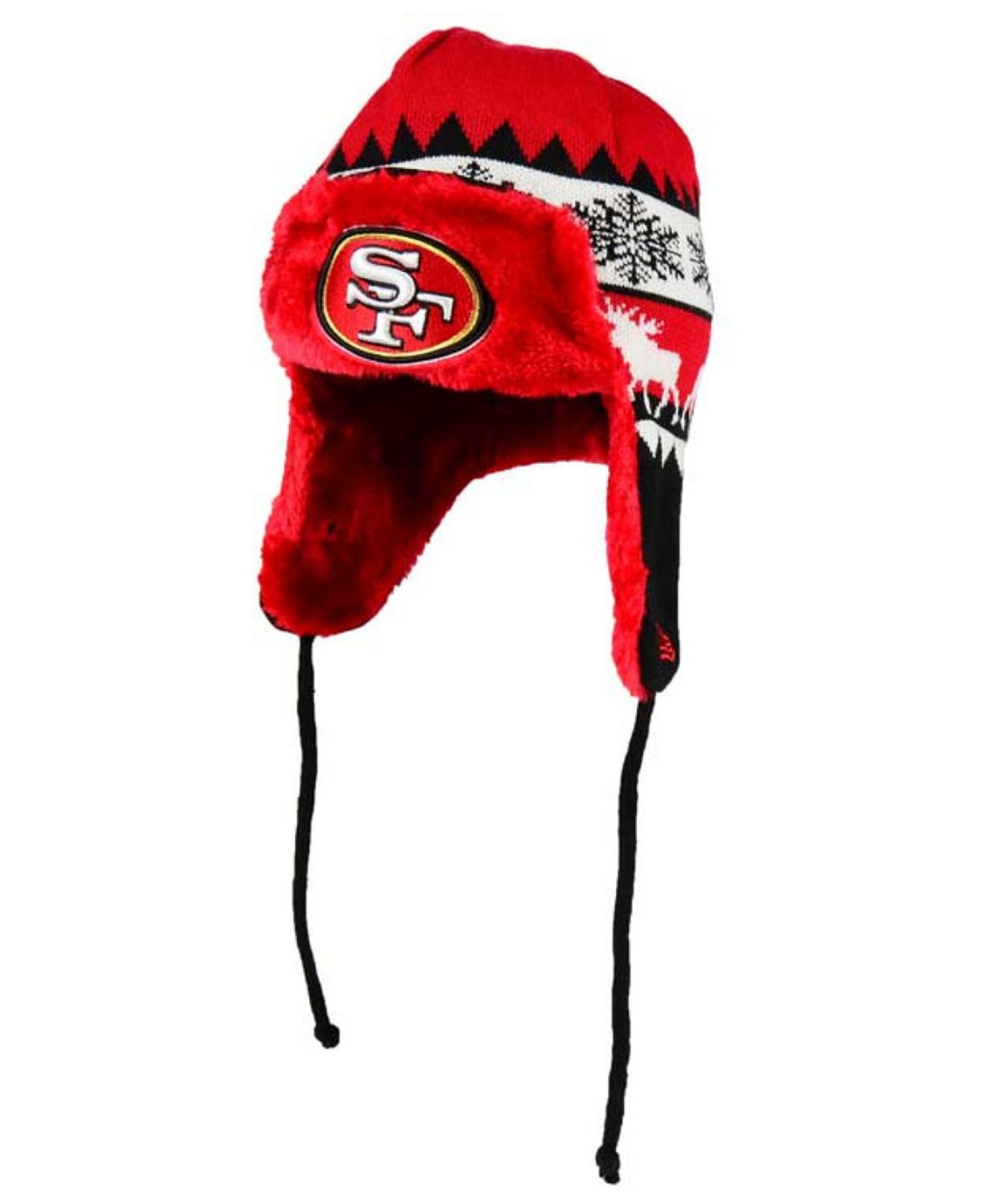 Lyst - KTZ San Francisco 49ers Moose Trapper Knit Hat in Red for Men 5aeeb4afef99
