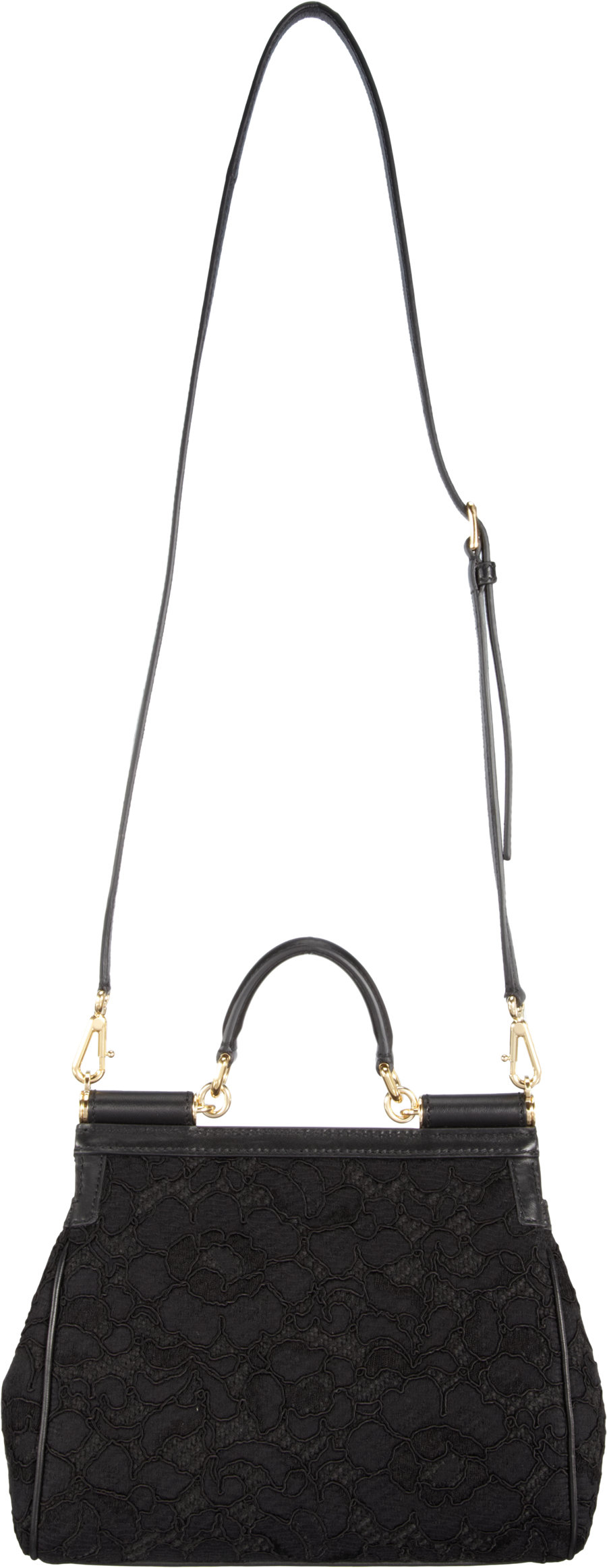 acbb26833b4a Dolce   Gabbana Lace Miss Sicily Bag in Black - Lyst
