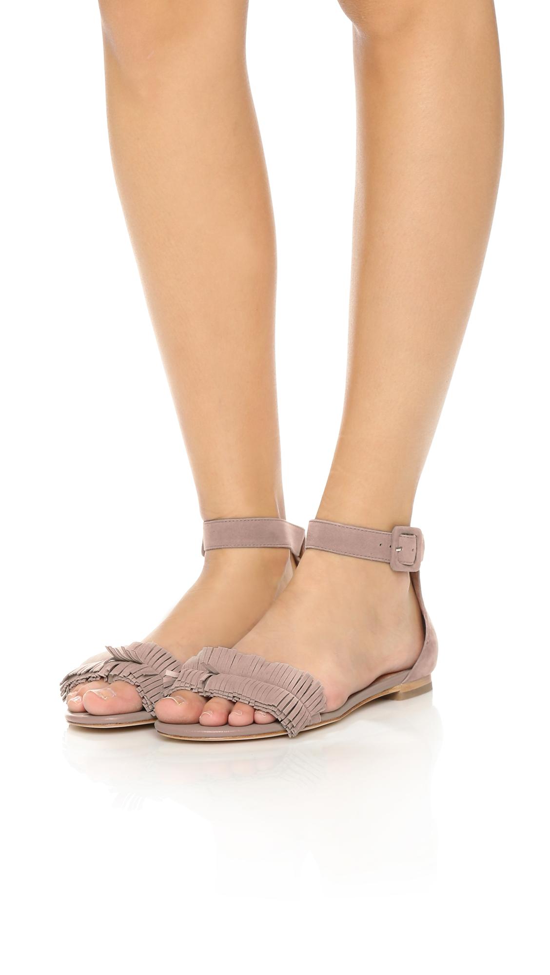 6bfb8defdd9a Lyst - Joie Ferris Suede Flat Sandals - Sandstone in Natural