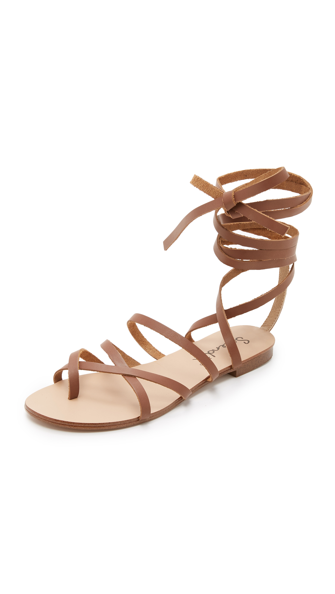 Lyst Splendid Carly Lace Up Sandals In Brown