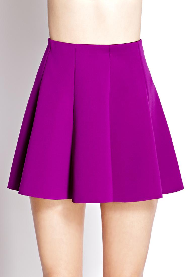 lyst forever 21 neoprene skater skirt in purple