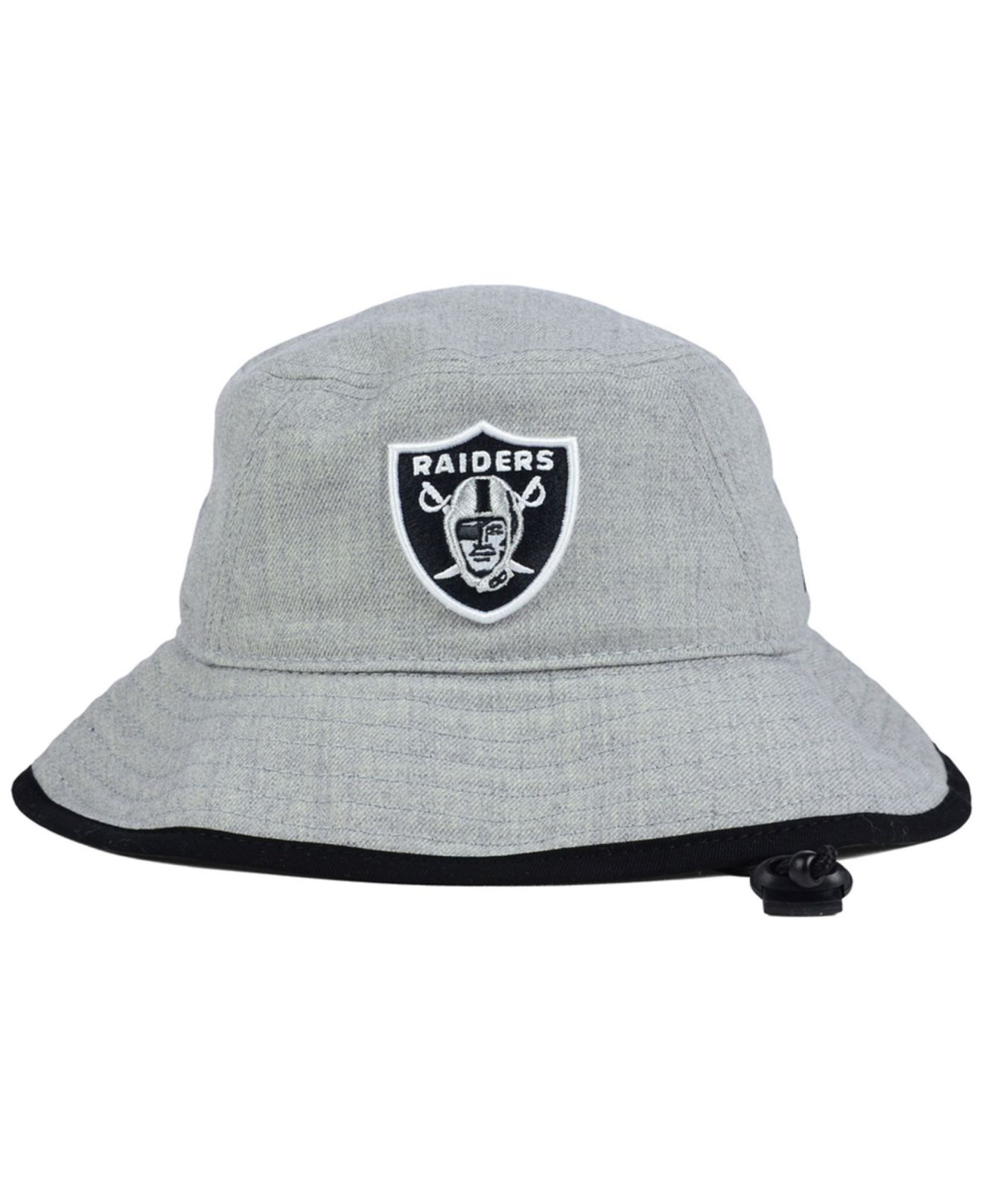 Lyst - KTZ Oakland Raiders Nfl Heather Gray Bucket Hat in Gray ee4c1e7bdbf
