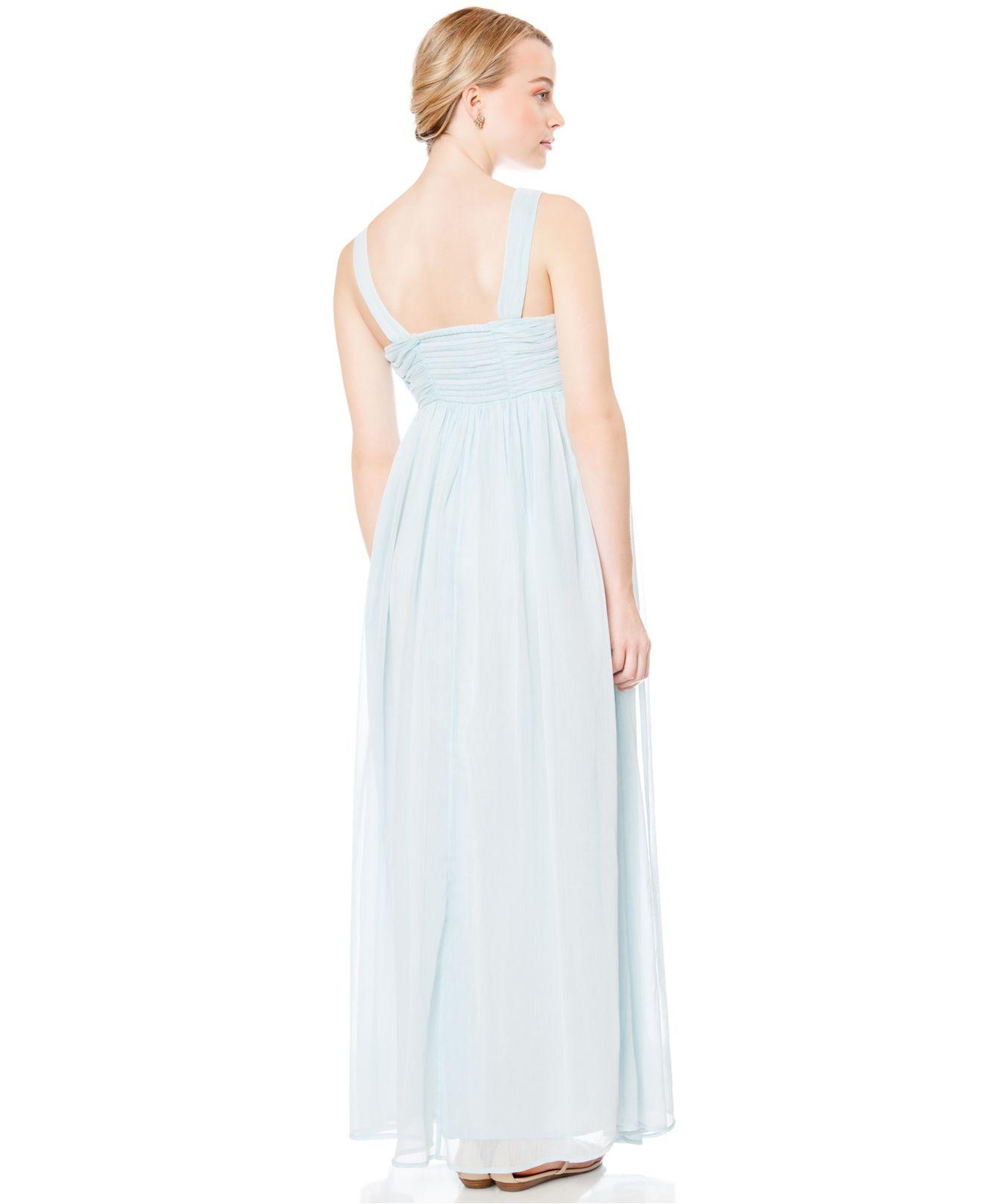 Jessica simpson maternity sleeveless maxi dress in blue lyst gallery ombrellifo Gallery