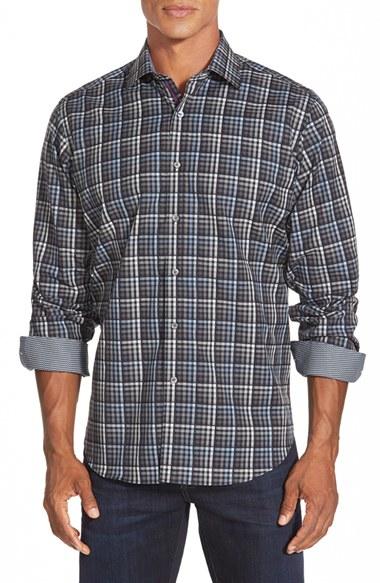 e3db69a0e Bugatchi Classic Fit Check Sport Shirt in Gray for Men - Lyst