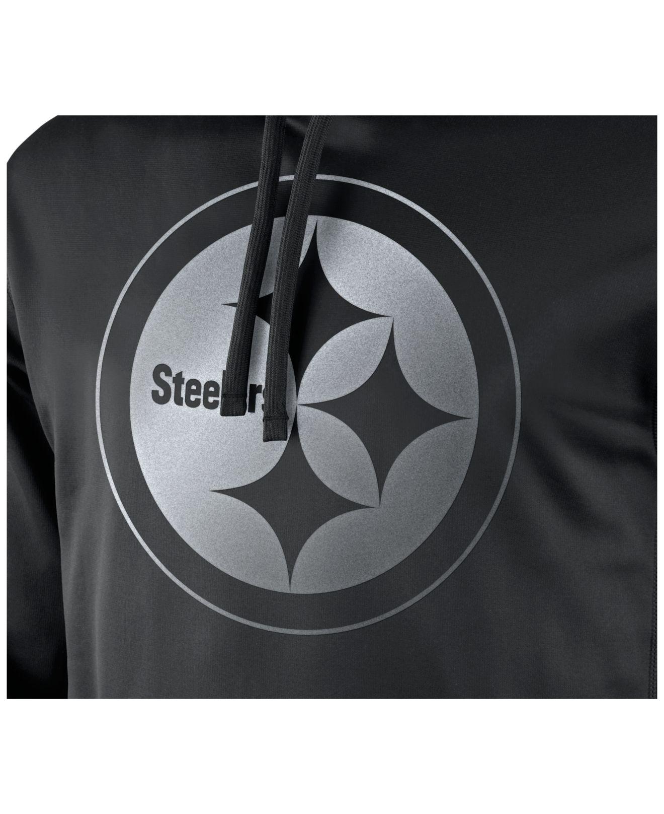 Lyst - Nike Men S Pittsburgh Steelers Reflective Ko Hoodie in Black ... 9da9c766f