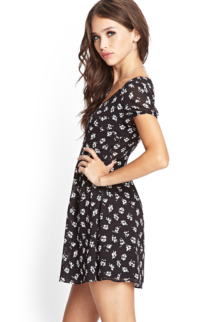 Promo Code For Forever 21 Navy Floral Dress A902d Dd6a9