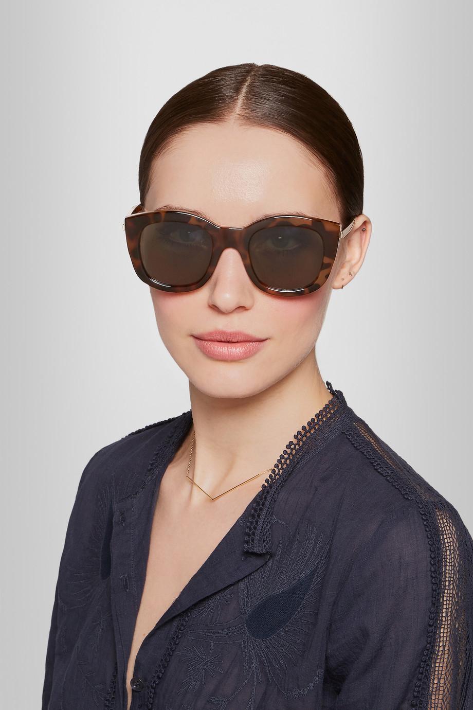 9a93333b30 Lyst - Le Specs Runaways Luxe Cat Eye Acetate Sunglasses .