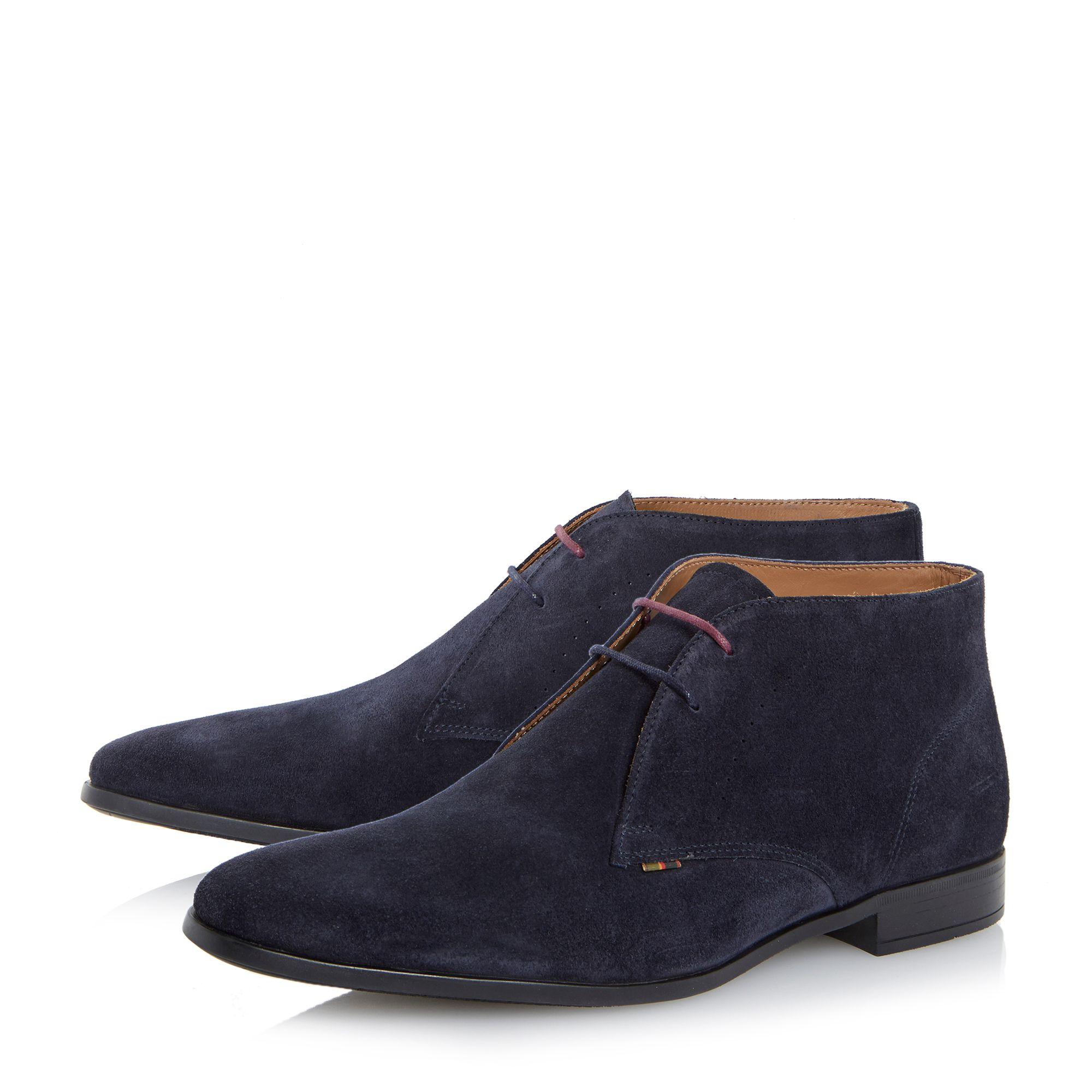 paul smith wilkinson lace up casual chukka boots in blue