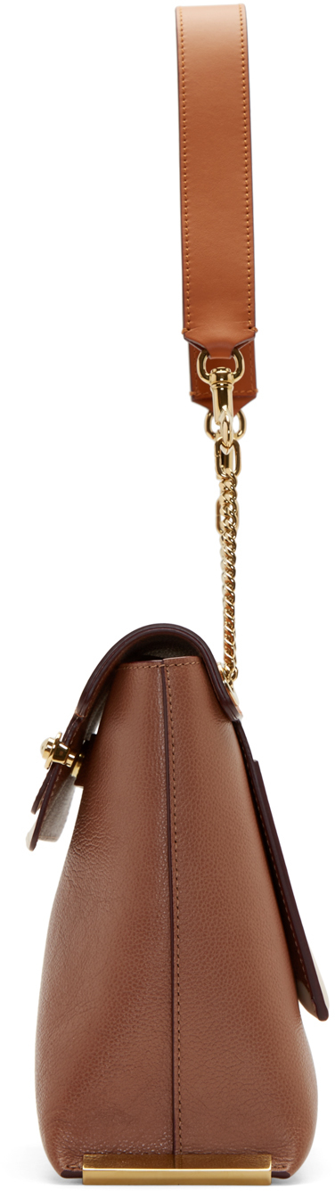 Chlo¨¦ Brown Leather Medium Clare Bag in Brown | Lyst
