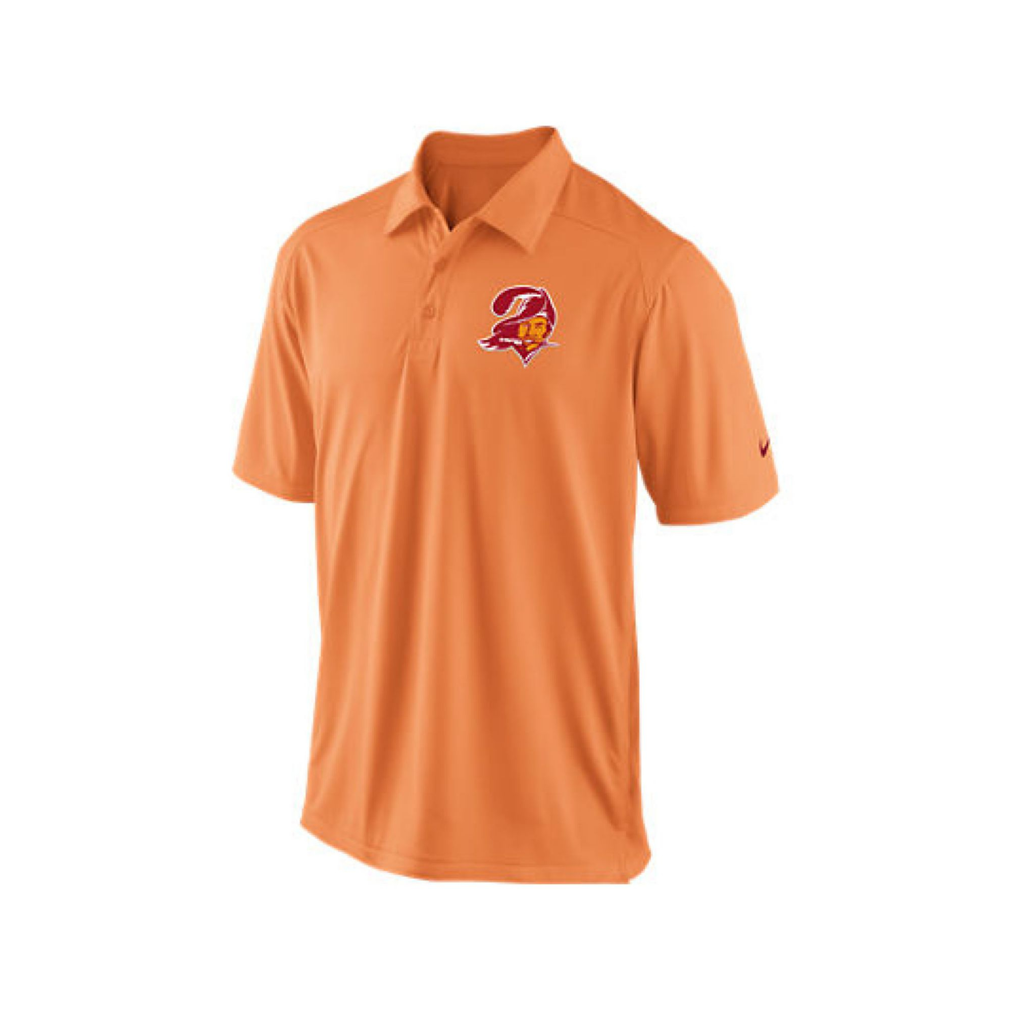 Nike mens tampa bay buccaneers football coaches polo shirt for Mens orange polo shirt