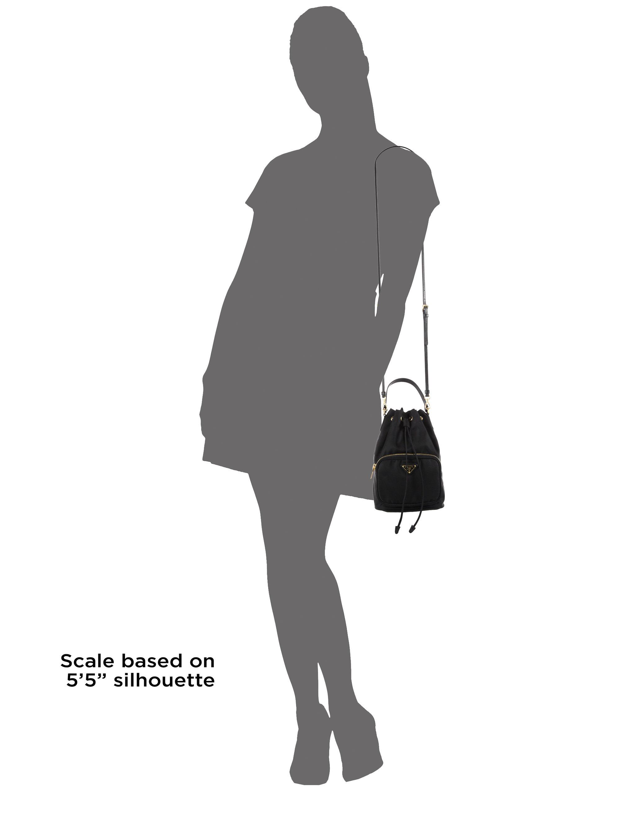 233088382edc ... top quality lyst prada tess drawstring nylon pouch crossbody bag in  black c7b90 ff10f