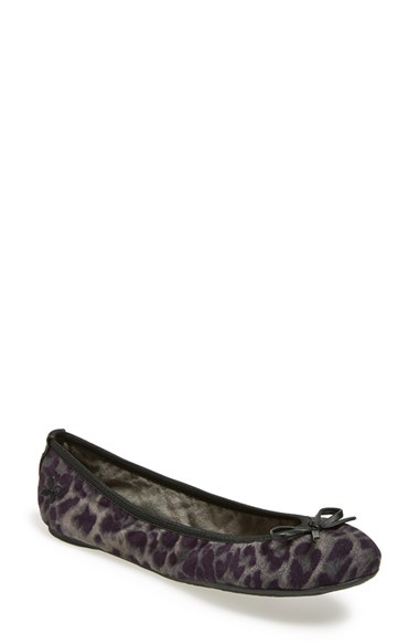 butterfly twists 39 cleo leopard 39 foldable ballerina flat in gray lyst. Black Bedroom Furniture Sets. Home Design Ideas