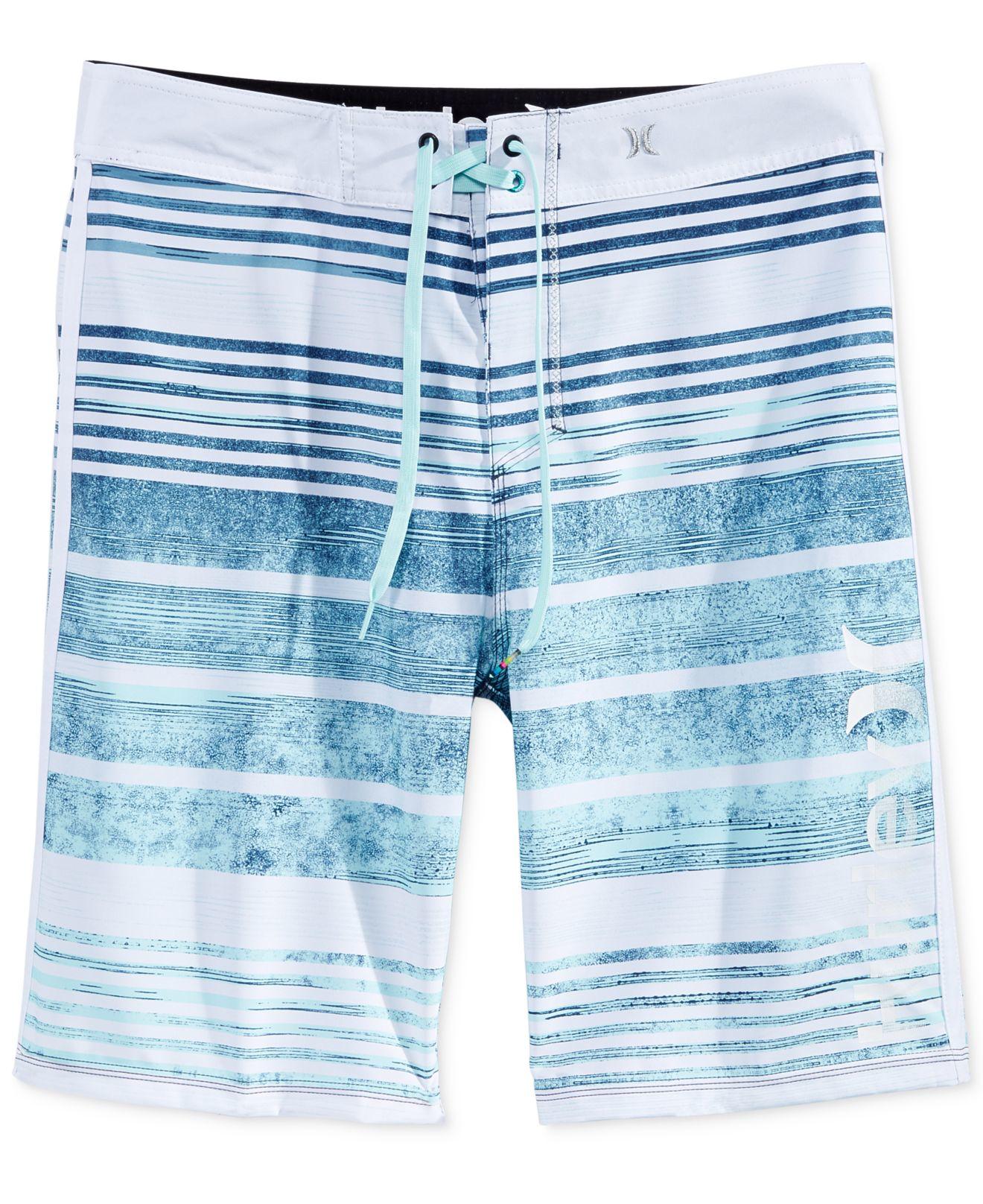 231b4afb5b Lyst - Hurley Men's Phantom Hightide Stripe Boardshorts in Blue for Men