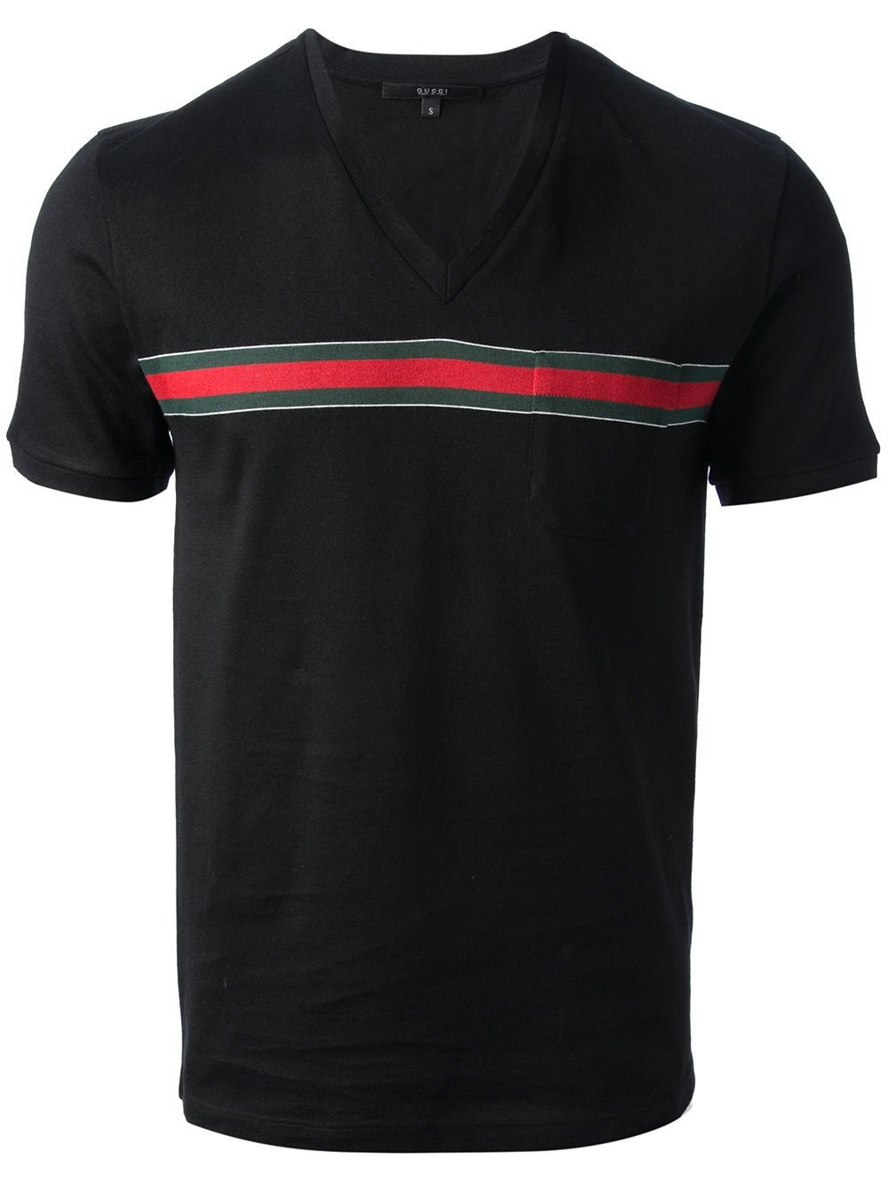 gucci vneck tshirt in black for men lyst. Black Bedroom Furniture Sets. Home Design Ideas