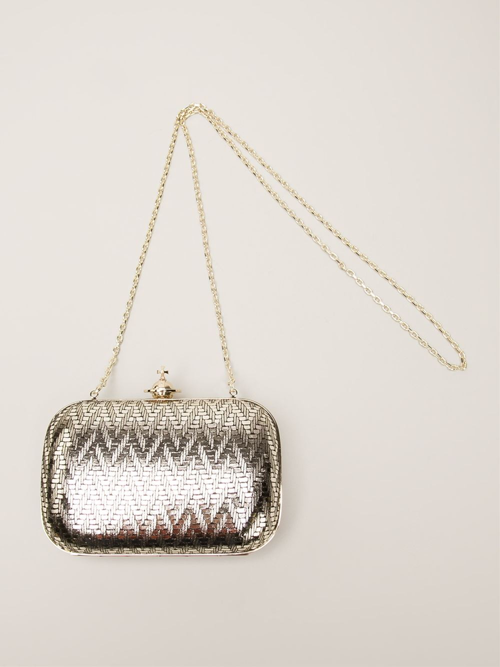 bad4a848a Vivienne Westwood Small 'Grace' Clutch in Metallic - Lyst