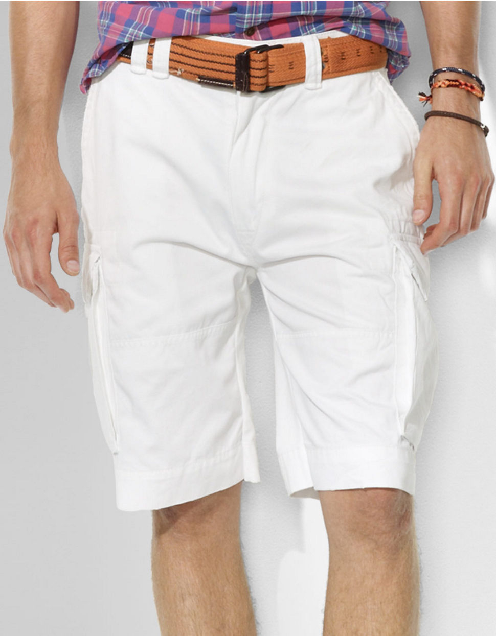 e5c9e8757 Polo Ralph Lauren Classic Cargo Shorts in White for Men - Lyst
