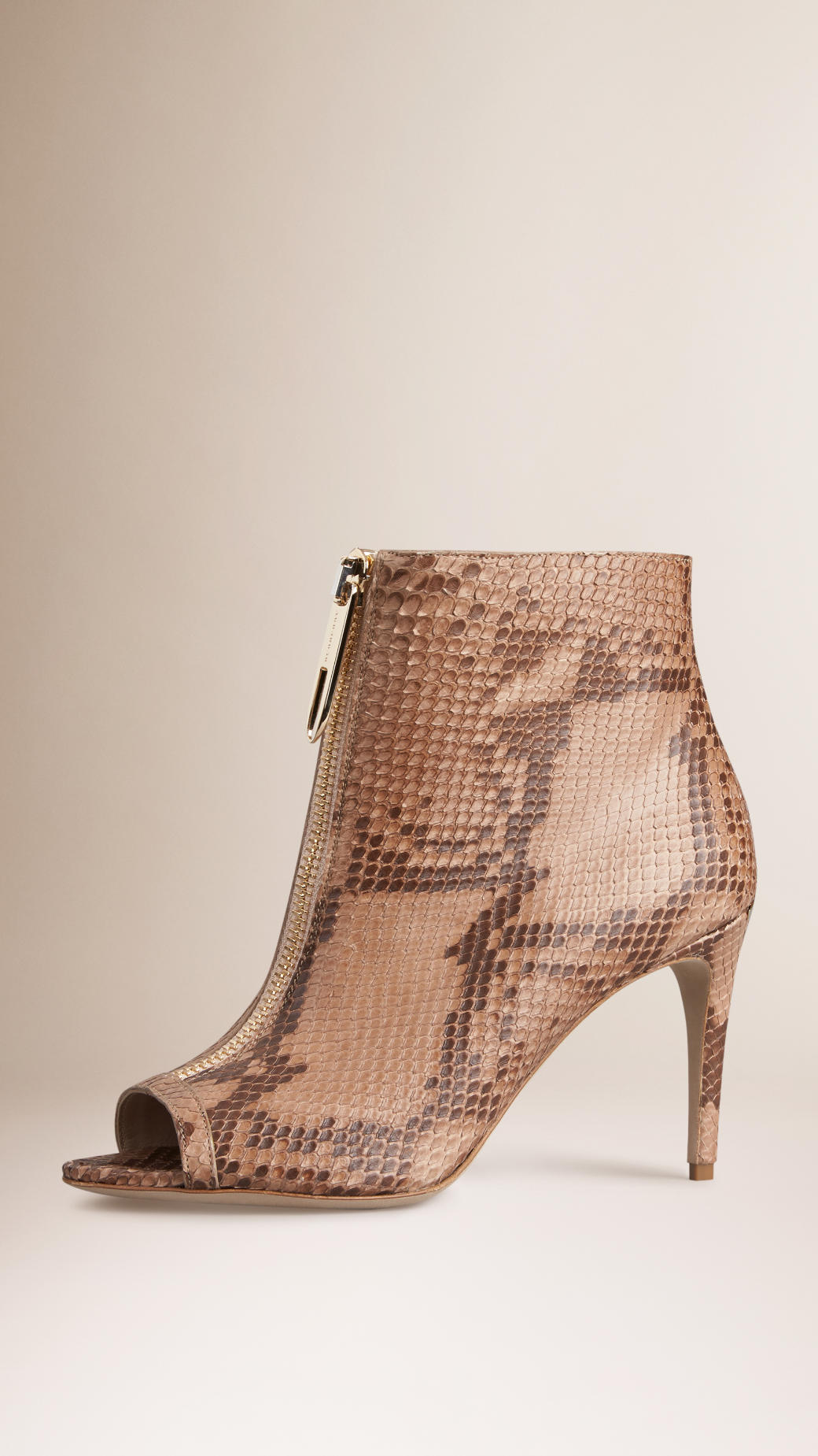 Burberry Snakeskin Peep-Toe Booties cheap authentic discount shop very cheap sale online outlet sale VGboxLXXBO
