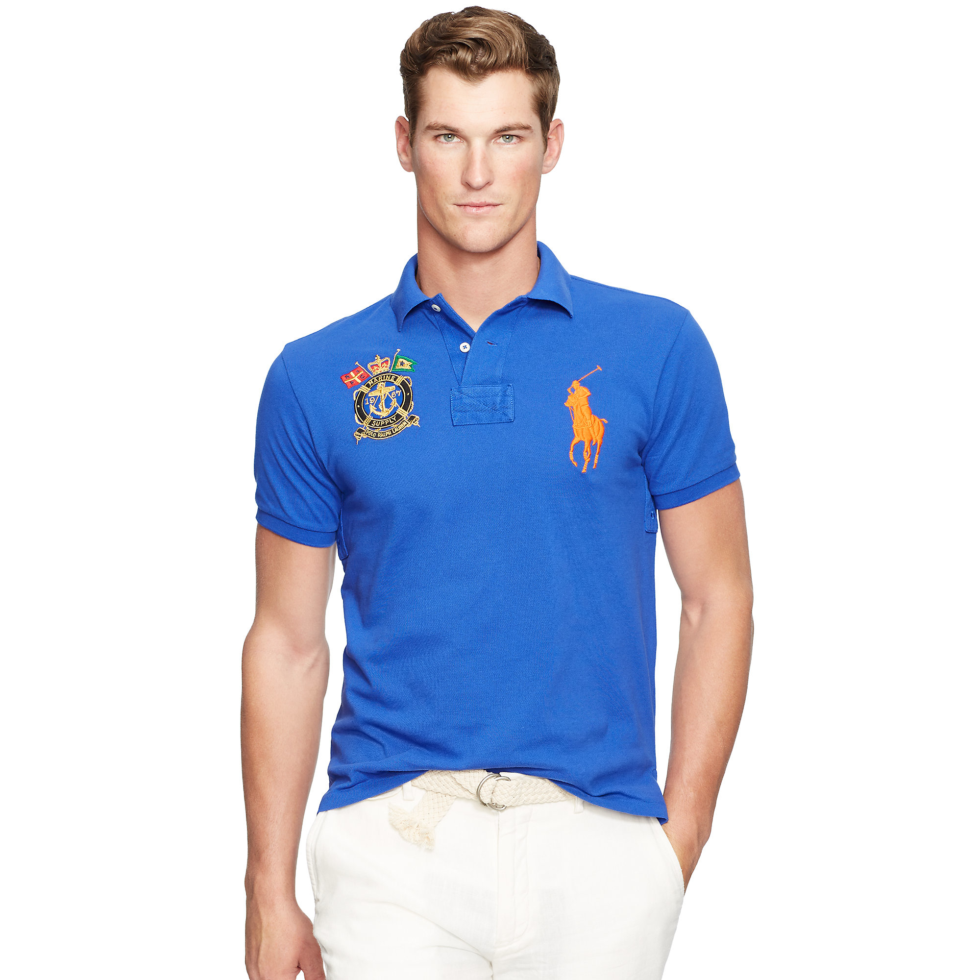 Lyst polo ralph lauren slim fit big pony polo shirt in Man in polo shirt