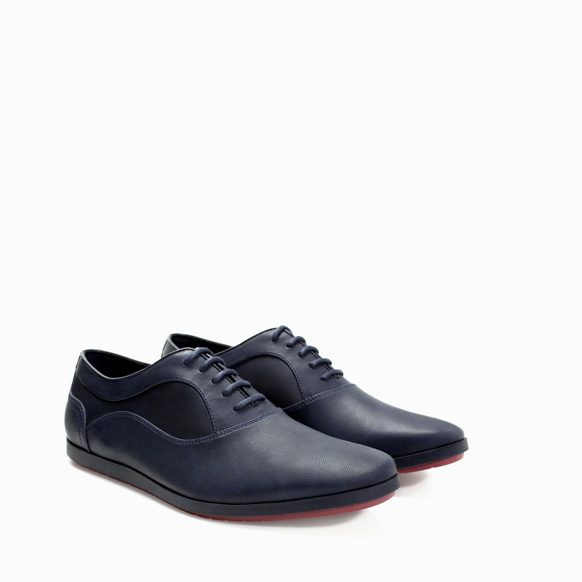 Zara Basic Navy Shoe Lace