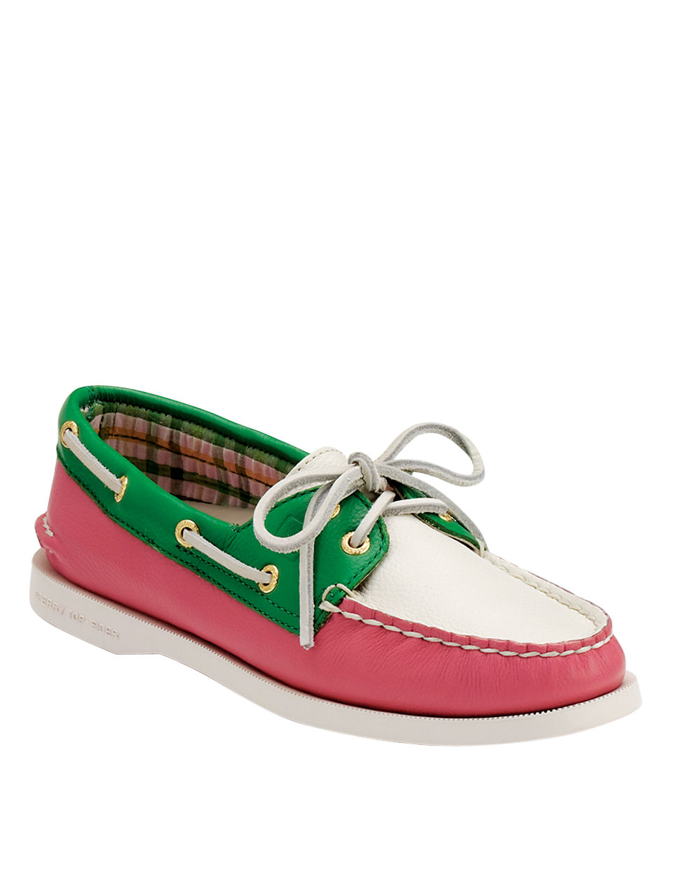 sperry top sider authentic original leather boat shoes in