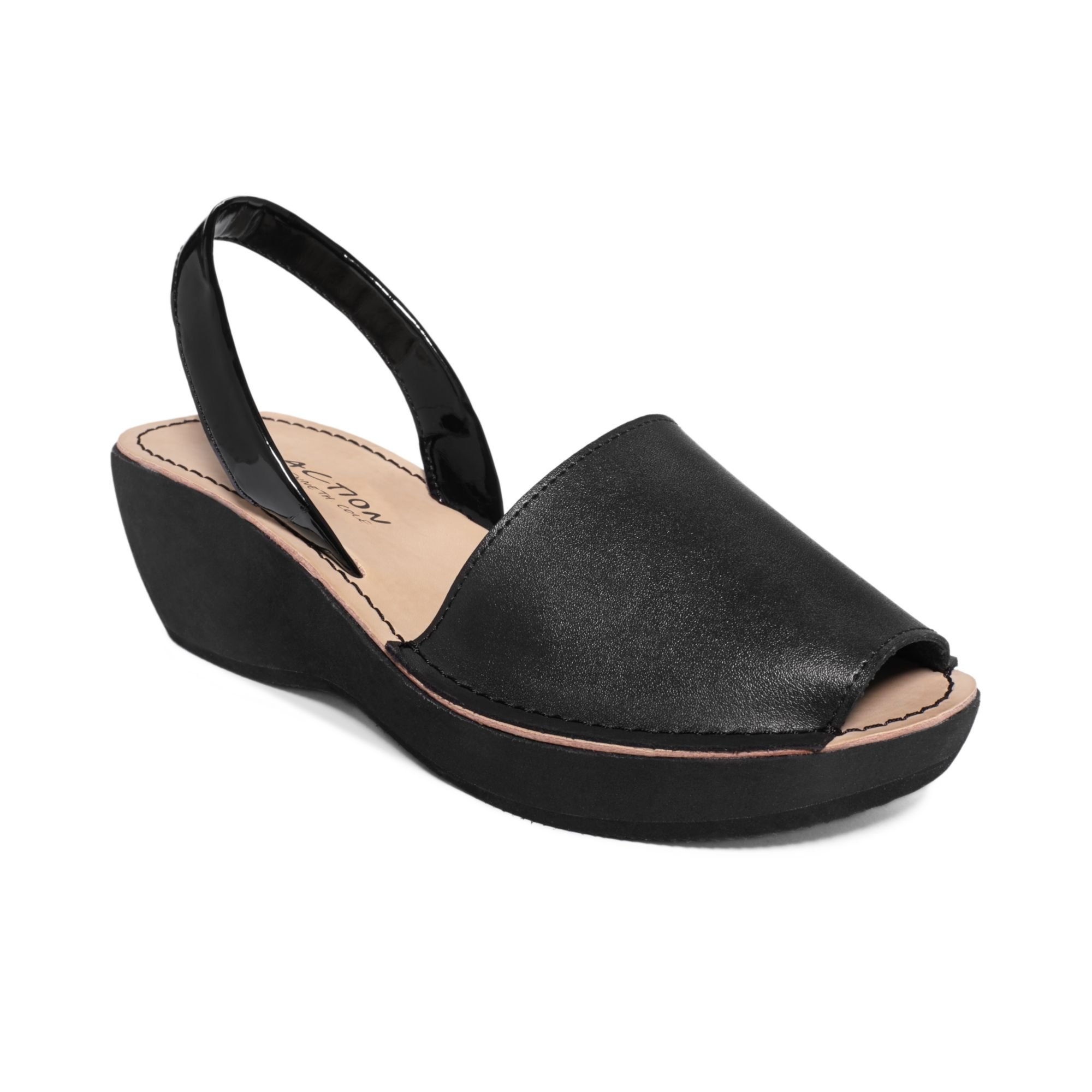 kenneth cole reaction glass wedges in black lyst