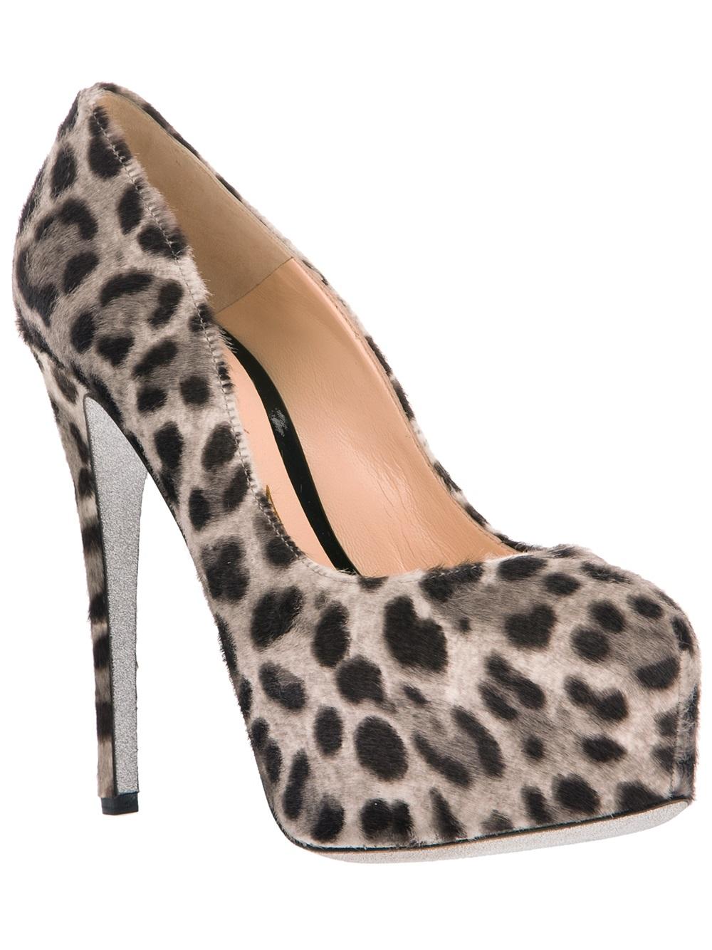 Leopard Skin Peep Toe Shoes