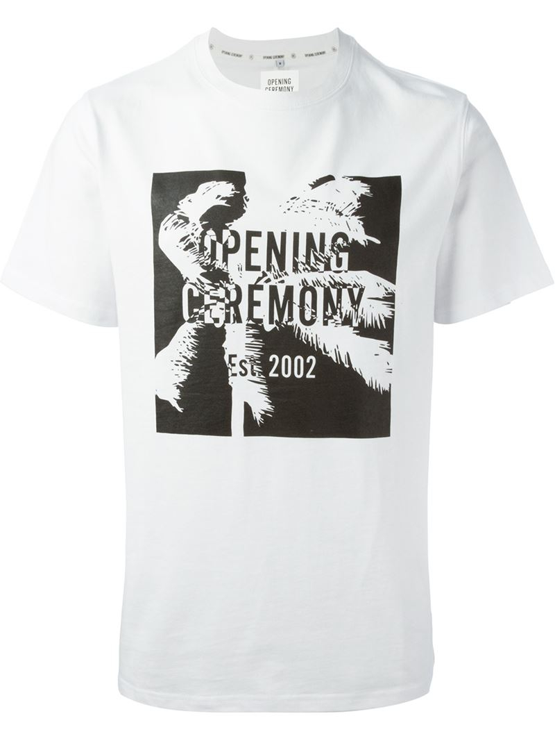 Lyst Opening Ceremony Printed T Shirt In White For Men