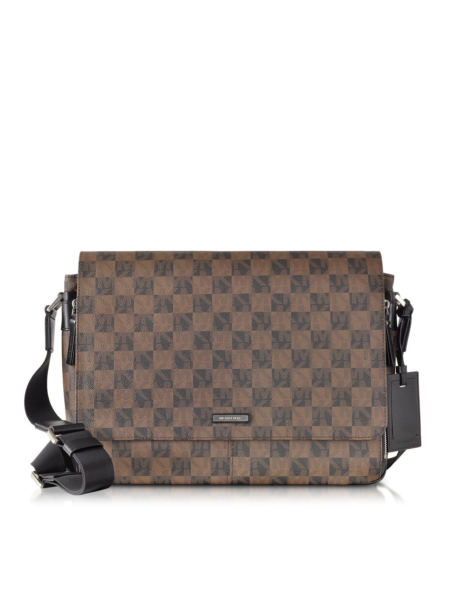 e9339d01b7aa Michael Kors Jet Set Mens Logo Large Eco Leather Messenger Bag in ...
