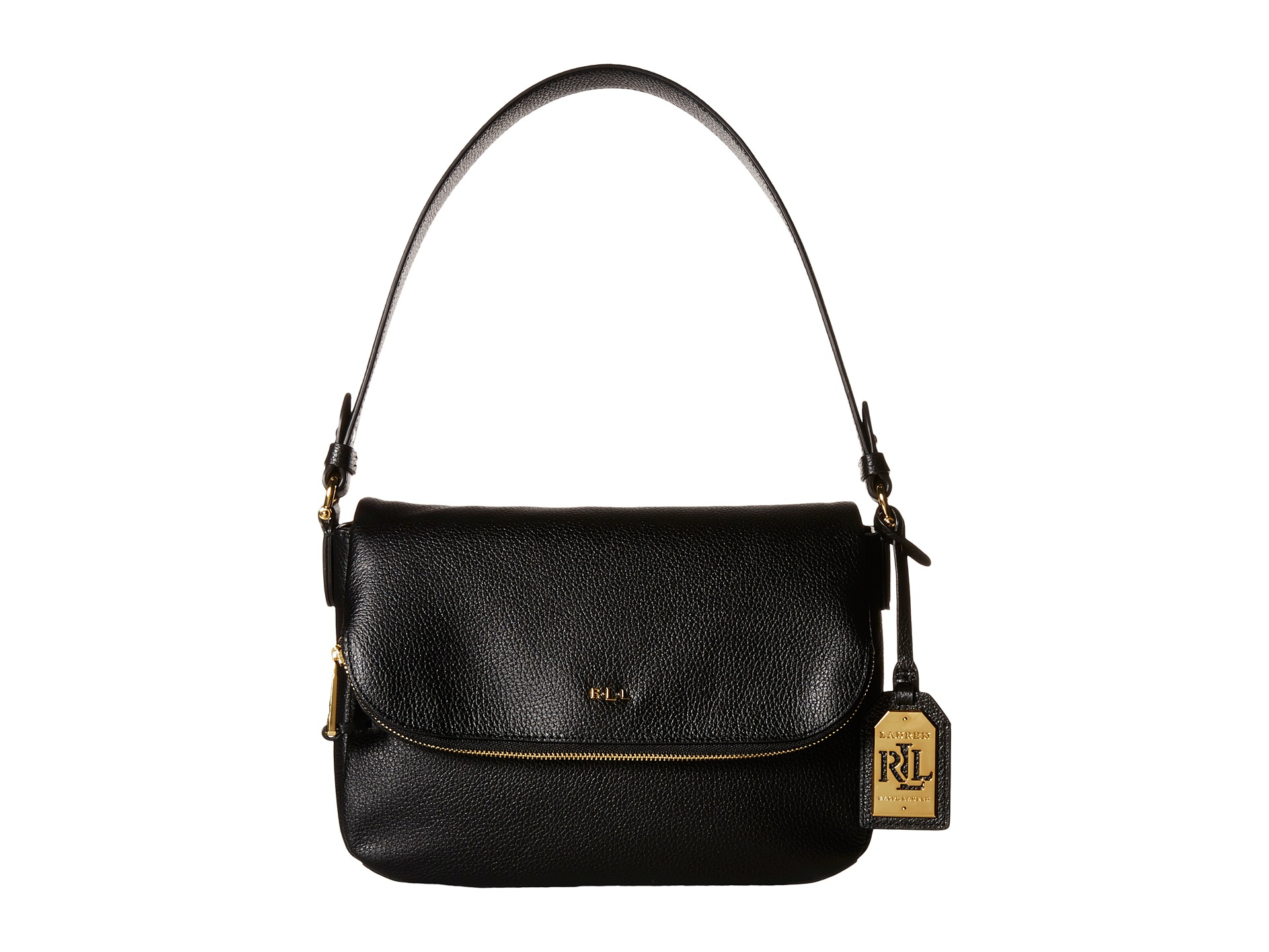 e5f3a42fb2d7 Lyst - Lauren by Ralph Lauren Harrington Shoulder Bag in Black