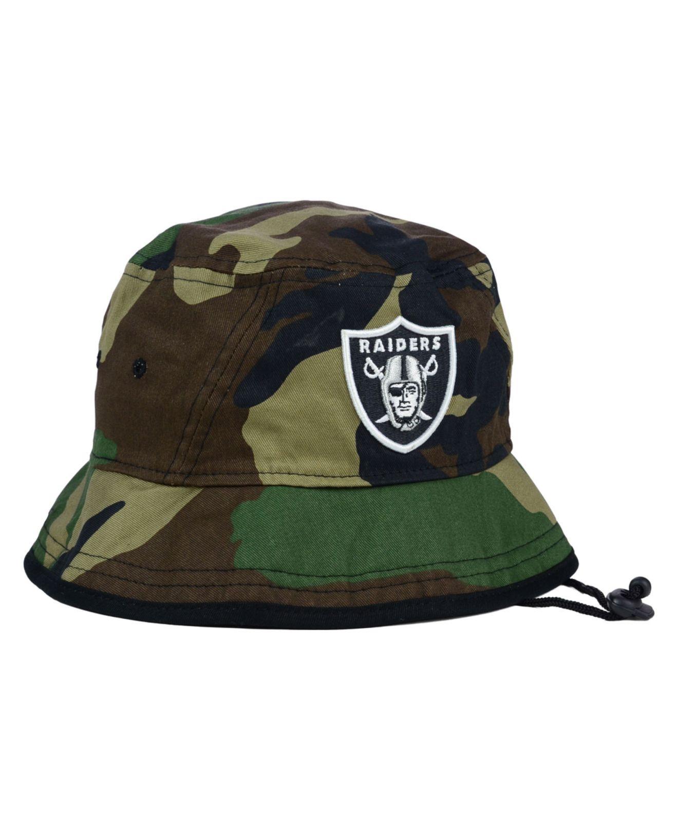 9b5b4362164540 ... france lyst ktz oakland raiders camo pop bucket hat in green for men  5e76e 54747